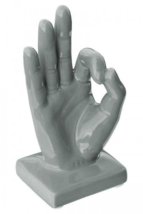 Ceramic Hand - OK Sign - Grey