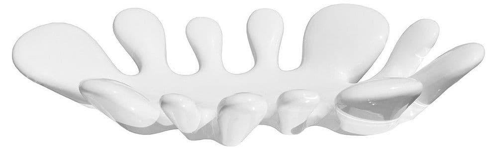 Ceramic Splash Dish - White