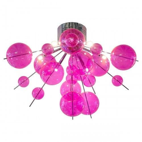 Coloured Glass Bauble Ceiling Light Chandelier