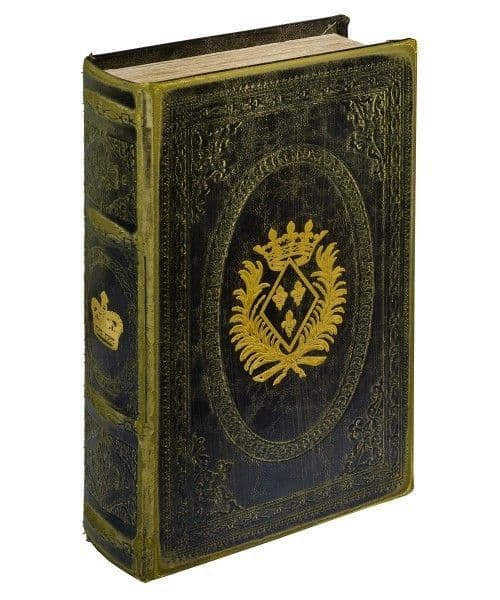 Gold Crown Storage Book Box! Looks like a book!