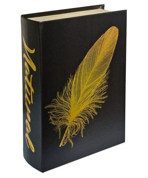 Gold Feather Natural Storage Book Box! Looks like a book!