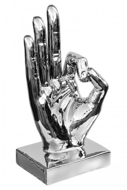 Large Ceramic OK Hand Sign