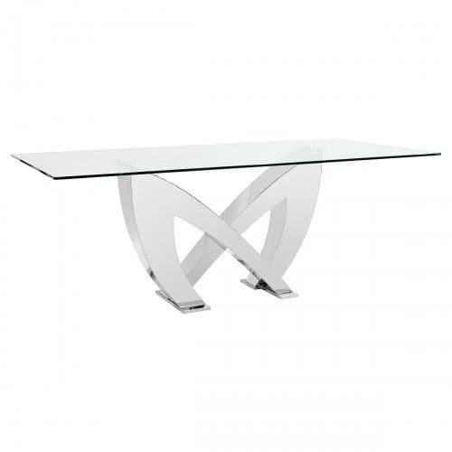 Monarch Rectangular Glass  Dining Table