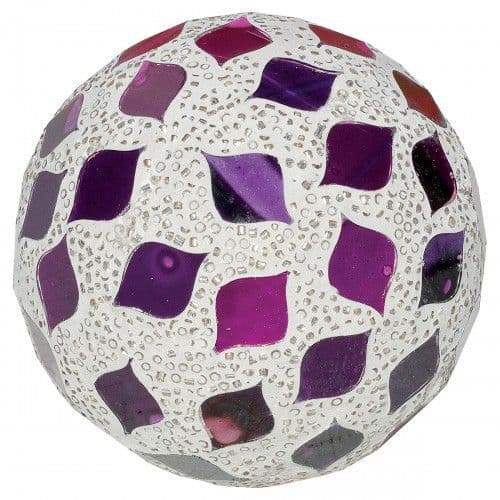 Mosaic Glass Tile Balls (Purple) Small/Medium/Large