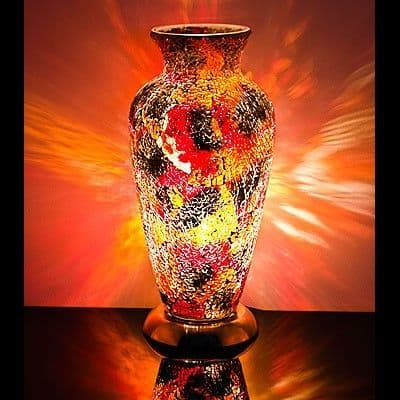 Mosaic Vase Glass Lamp - Various Colours