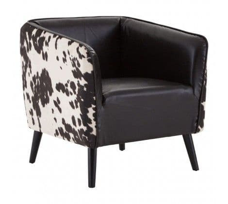 Rodeo Tub Chair with Cowhide Detail