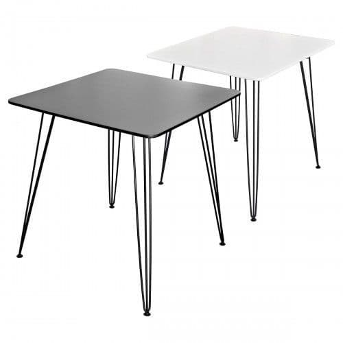 Tower Square Dining Table - Black or White 70cm