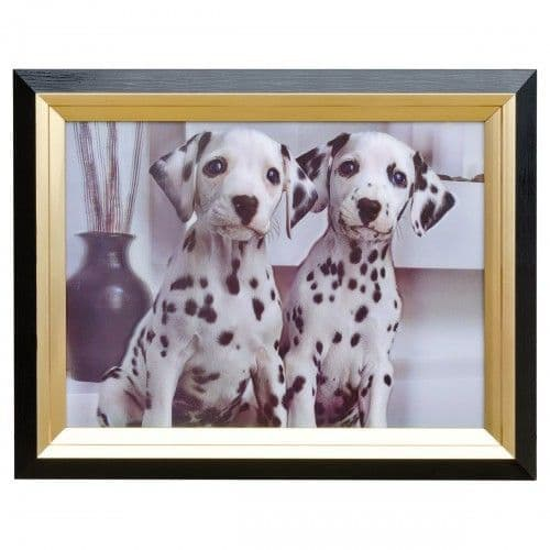 Twin Dalmations Hologram Framed Picture