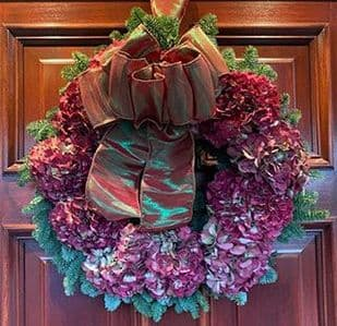Natural Dried Hydrangea Wreath