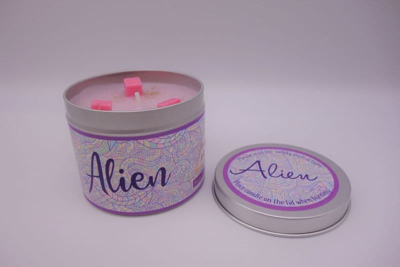 'Alien' Highly Scented Candle Tin – can be personalised