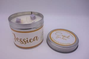 'Creed for Her' Highly Scented Candle Tin – can be personalised