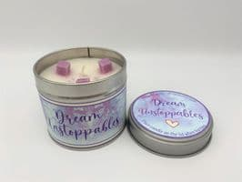 'Dream Unstoppables' Highly Scented Candle Tin – can be personalised