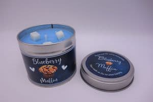 Blueberry Muffin Highly Scented Candle Tin – can be personalised