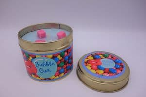Bubblegum Highly Scented Candle Tin – can be personalised