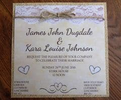Day Invitation with brown envelope