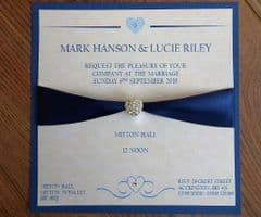 Day Invitation with matching envelope