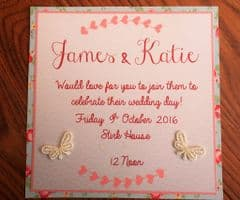 Day Invitation with Pale Pink Pnvelope