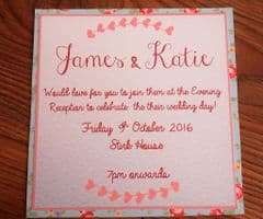 Evening Invitation with Pale Pink Envelope