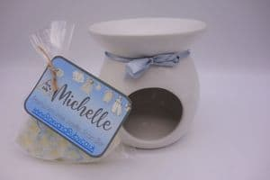 Fresh Linen Scented Wax Waffle Snap Bar & Burner Set – can be personalised