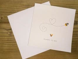 Maternity Card - 'Mummy-to-Bee' - Personalised