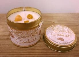 Santa's Cookies Highly Scented Candle Tin – can be personalised