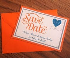 Save the Date with matching envelopes