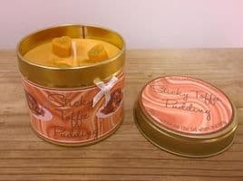 Sticky Toffee Pudding Highly Scented Candle Tin – can be personalised
