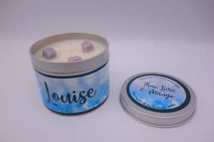 Thai, Lime & Mango Highly Scented Candle Tin – can be personalised (1)