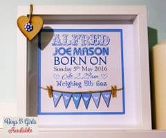 Words & Bunting - New Baby