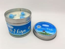 Zoflora Inspired 'Fresh Linen' Highly Scented Candle Tin – can be personalised