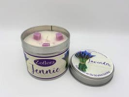 Zoflora Inspired 'Lavender' Highly Scented Candle Tin – can be personalised