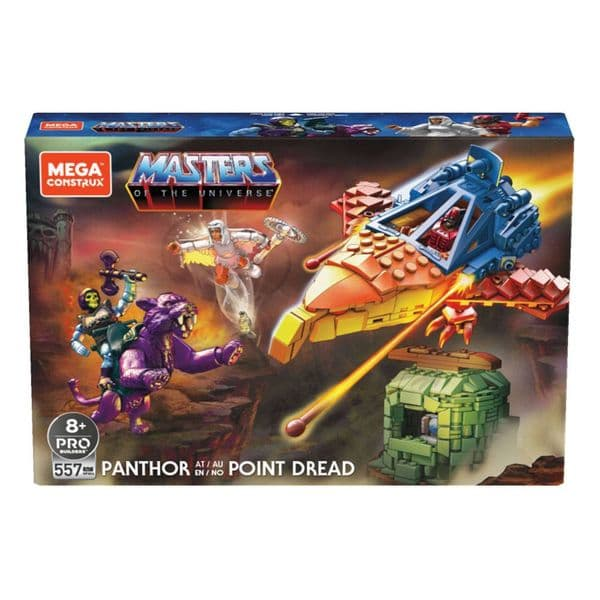 Masters of The Universe Mega Construx Probuilders Set Panthor at Point Dread