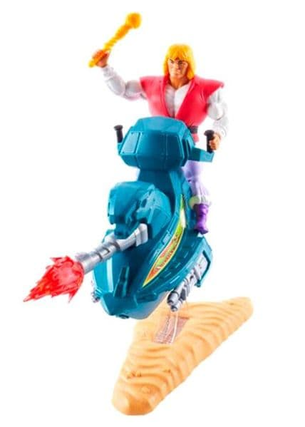 Masters of The Universe Origins Prince Adam With Sky Sled