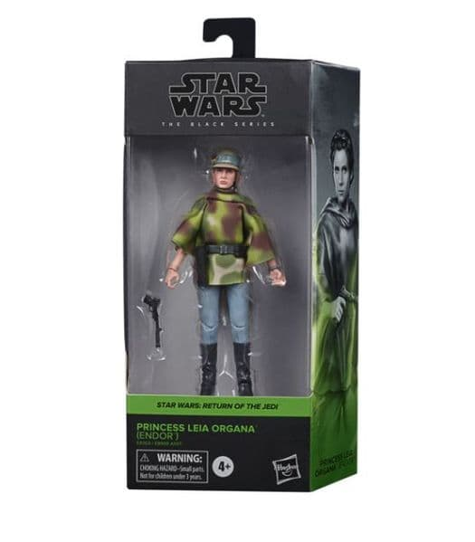 Star Wars The Black Series Princess Leia (Endor Battle Poncho) 6