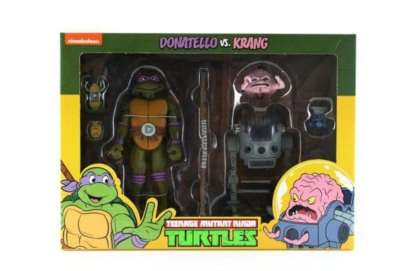 Teenage Mutant Ninja Turtles Cartoon Donatello & Krang 2 Pack