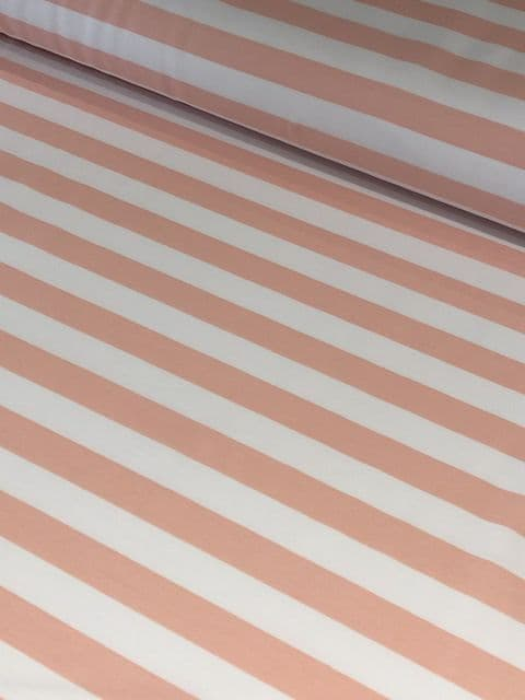 Peach and White Stripe - Cara