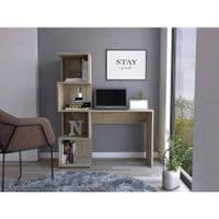 BOSTON Home Office Computer Desk with Shelving Unit