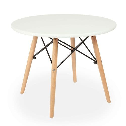 White Eiffel Style Children's Table - with Wooden Legs