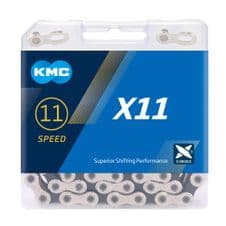 BOXED KMC X11 SILVER & BLACK 11 SPEED CHAIN INC KMC POWER JOINING LINK RRP £29.95