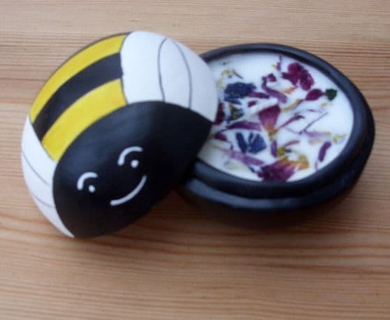Bee Candle Pot - Rose