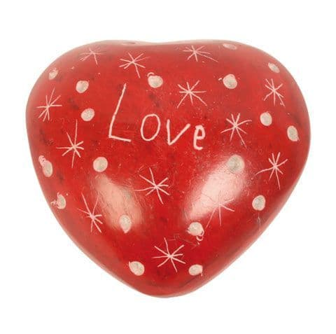 Red Heart Pebble