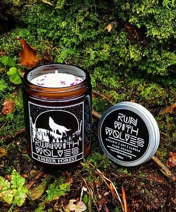 Run With Wolves Amber Forest Soy Candle