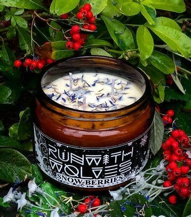 Run with Wolves, Snow Berries Candle