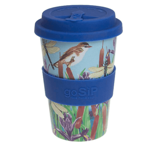 Warbler & Dragonfly Rice Husk Cup