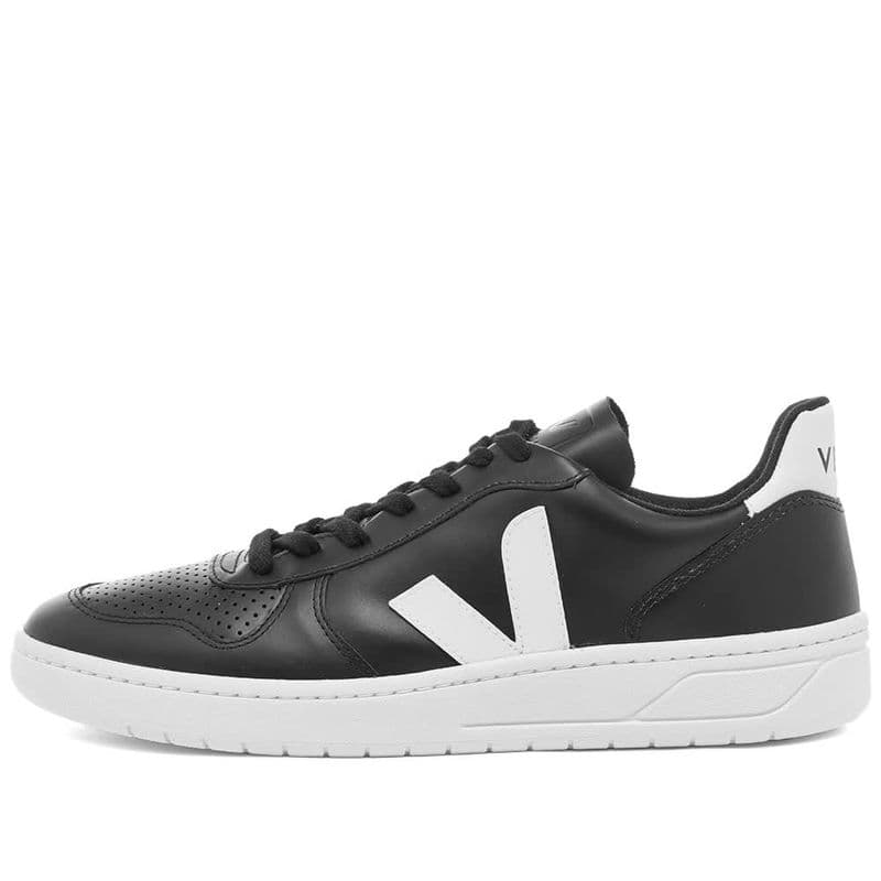 LADIES V-10 LEATHER BLACK/WHITE