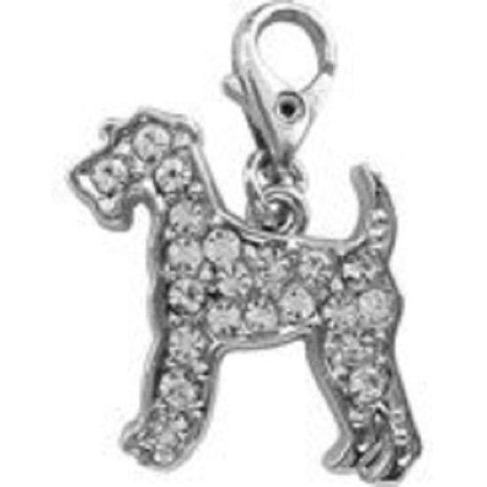 AIRDALE  CHARM CRYSTAL CHARM FOR BAGS PHONES JEWELLERY CLEAR CLIP ON CHARM