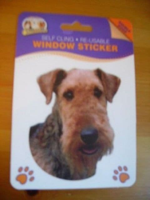 AIREDALE TERRIER DOUBLE SIDED WINDOW STICKER