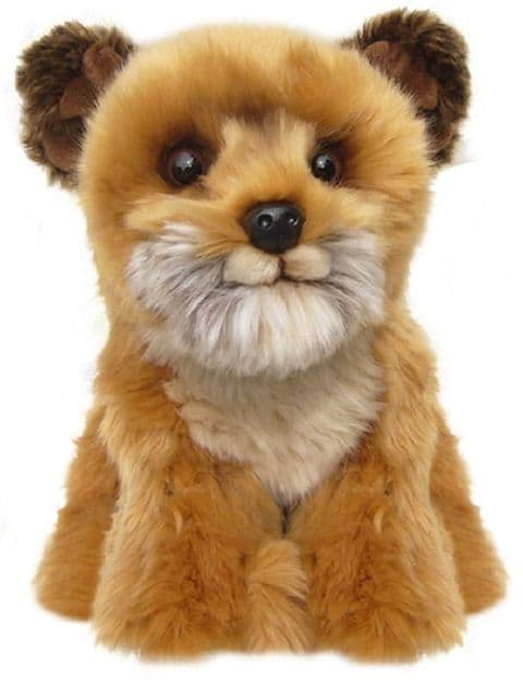 Border Terrier, gift wrapped or not with or without engraved tag, cuddly toy dog
