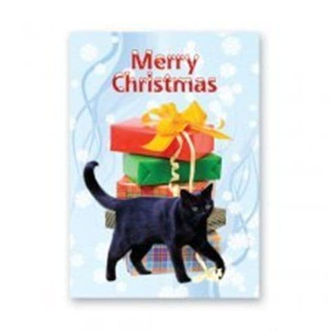 Cat (Black) Christmas card