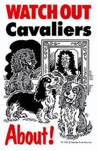 CAVALIERS ABOUT WATCH OUT  FLEXIBLE CARTOON SIGN
